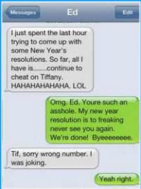 New Year Break Ups